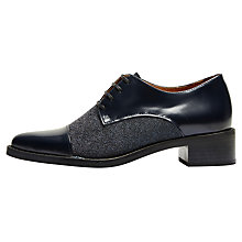 Buy Selected Femme Scartlett Lace Up Brogues, Dark Navy Online at johnlewis.com