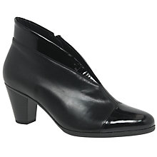 Buy Gabor Enfield Cut Away Ankle Boots, Black Online at johnlewis.com