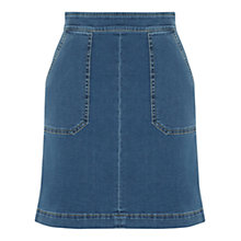 Buy Warehouse Denim Pocket Detail Denim Skirt, Indigo Online at johnlewis.com