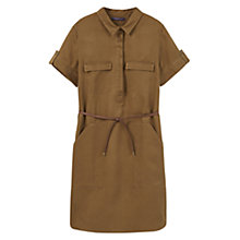 Buy Violeta by Mango Soft Shirt Dress, Medium Green Online at johnlewis.com