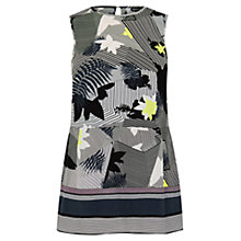 Buy Warehouse Palm Print Tunic Shell Top, Multi Online at johnlewis.com