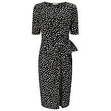 Buy Jacques Vert Polka Dot Jersey Dress, Multi/Black Online at johnlewis.com
