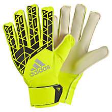 Buy Adidas Junior Ace Training Goalkeeper Gloves, Yellow/Black Online at johnlewis.com