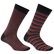 Buy John Lewis Made in Italy Merino Wool Shell Socks, Pack of 2, Navy Online at johnlewis.com