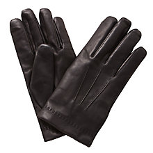 Buy Mulberry Soft Nappa Leather Gloves, Black Online at johnlewis.com