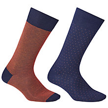 Buy John Lewis Made in Italy Egyptian Cotton Birdseye Stripe Socks, Pack of 2 Online at johnlewis.com