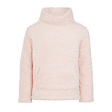 Buy John Lewis Girls' Fluffy Fleece Sweatshirt, Silver Pink Online at johnlewis.com