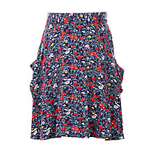 Buy John Lewis Girls' Floral Skirt, Navy Online at johnlewis.com