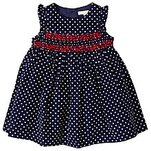 Buy John Lewis Baby Spotted Cord Dress, Blue Online at johnlewis.com