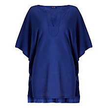 Buy Phase Eight Linen Kaftan Top, Cobalt Online at johnlewis.com