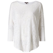 Buy Phase Eight Ditsy Burnout Catrina Top, White Online at johnlewis.com