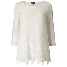 Buy Phase Eight Odele Textured Top, White Online at johnlewis.com