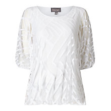 Buy Phase Eight Eve Geo Burnout Top, White Online at johnlewis.com