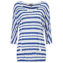 Buy Phase Eight Jenny Stripe Top, Cobalt/White Online at johnlewis.com