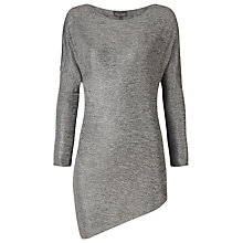 Buy Phase Eight Zoey Metallic Jersey Top, Silver Online at johnlewis.com