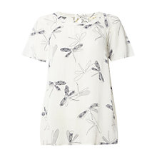 Buy White Stuff Kimono Dragonfly Top, Ivory/Cream Online at johnlewis.com