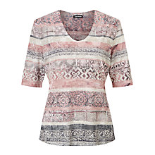 Buy Gerry Weber Short Sleeve Printed T-Shirt, Multi Online at johnlewis.com