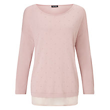 Buy Gerry Weber Double Layer Jumper, Rose Online at johnlewis.com