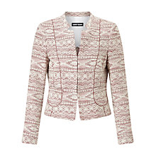 Buy Gerry Weber Jacquard Jacket, Rose Figured Online at johnlewis.com