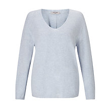 Buy Gerry Weber Long Sleeve V-Neck Jumper, Denim Melange Online at johnlewis.com