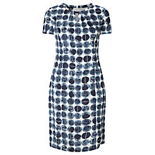 Buy Gerry Weber Spot Print Dress, Indigo/Sand Online at johnlewis.com