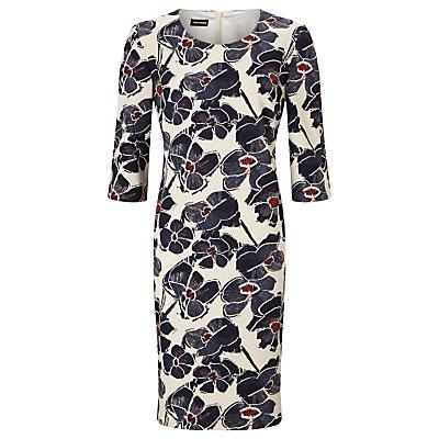 Gerry Weber Abstract Floral Print Dress, Indigo/Sand