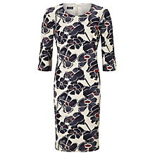 Buy Gerry Weber Abstract Floral Print Dress, Indigo/Sand Online at johnlewis.com
