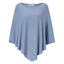 Buy Gerry Weber Knitted Poncho, Denim Melange Online at johnlewis.com
