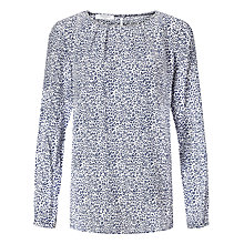 Buy Gerry Weber Animal Print Top, Blue/White Online at johnlewis.com