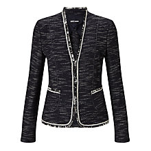 Buy Gerry Weber Edge To Edge Textured Jacket, Indigo Online at johnlewis.com