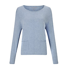 Buy Gerry Weber Patch Pocket Jumper, Denim Melange Online at johnlewis.com