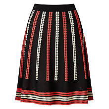 Buy Somerset by Alice Temperley Jacquard Skirt, Black Online at johnlewis.com