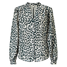 Buy Somerset by Alice Temperley Animal Print Top, Grey Online at johnlewis.com