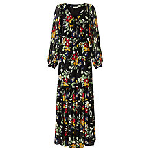 Buy Somerset by Alice Temperley Vintage Floral Print Maxi Dress, Black Online at johnlewis.com