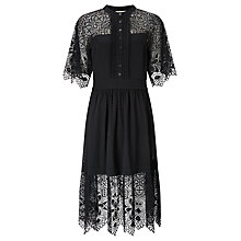 Buy Somerset by Alice Temperley Lace And Spot Dress, Black Online at johnlewis.com