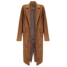Buy Bruce by Bruce Oldfield 73 NYC Suede Coat, Tan Online at johnlewis.com