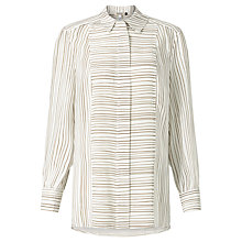 Buy Bruce by Bruce Oldfield 73 NYC Stripe Printed Blouse, Taupe Online at johnlewis.com