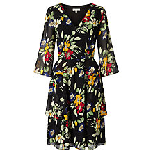 Buy Somerset by Alice Temperley Vintage Floral Print Dress, Black Online at johnlewis.com