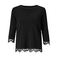 Buy Somerset by Alice Temperley Lace Knit Jumper, Black Online at johnlewis.com