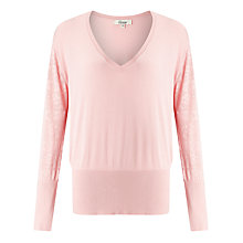 Buy Somerset by Alice Temperley V-Neck Pointelle Jumper Online at johnlewis.com