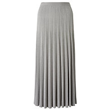 Buy Bruce by Bruce Oldfield Pleated Maxi Knit Skirt, Silver Online at johnlewis.com