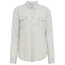 Buy French Connection Classic Western Long Sleeve Shirt, Bleach Online at johnlewis.com