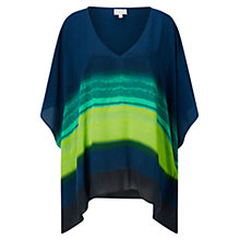 Buy East Silk Ombre Stripe Kaftan, Ink Online at johnlewis.com