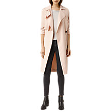 Buy AllSaints Emil Mac Coat, Soft Peach Online at johnlewis.com