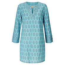 Buy East Chadna Embellished Kurta Top, Blue Online at johnlewis.com