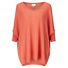 Buy East Seam Detail Poncho Jumper, Mandarin Online at johnlewis.com