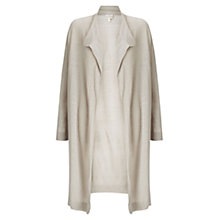 Buy East Drape Front Linen Cardigan, Stone Online at johnlewis.com