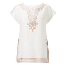 Buy East Braid Detail Top, White Online at johnlewis.com