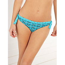 Buy White Stuff Mexican Flower Bikini Bottoms, Turquoise Online at johnlewis.com