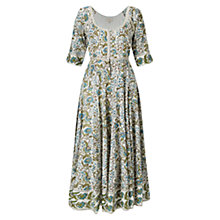 Buy East Paravani Print Scoop Neck Dress, Stone/Multi Online at johnlewis.com